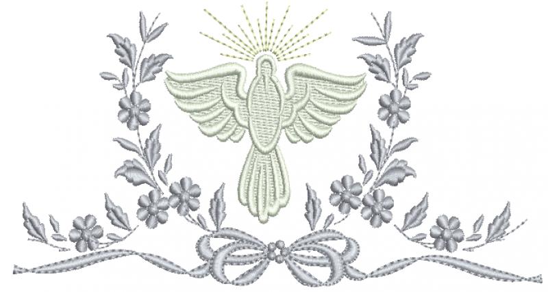 Guirlanda com Ramos e Flores Divino Espírito Santo - Ponto Cheio