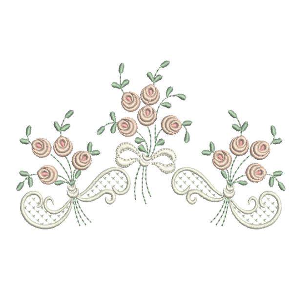 Rosas pequenas em Buquê - Ponto Cheio