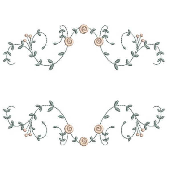 Rosas Pequenas e Entremeio de Ramos - Ponto Cheio
