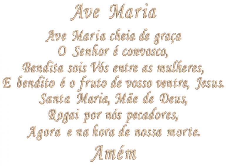 Oração Ave Maria - Ponto Cheio