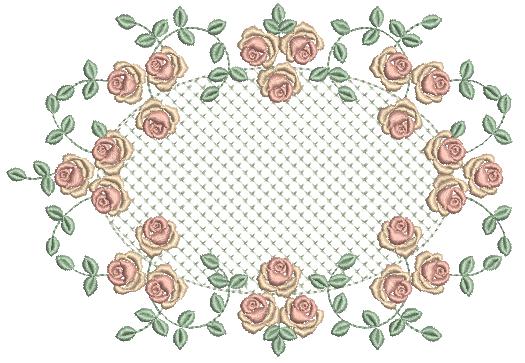 Raminho de Rosas e Crivo