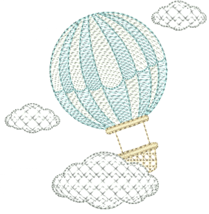 Balão com Nuvens Delicadas - Rippled