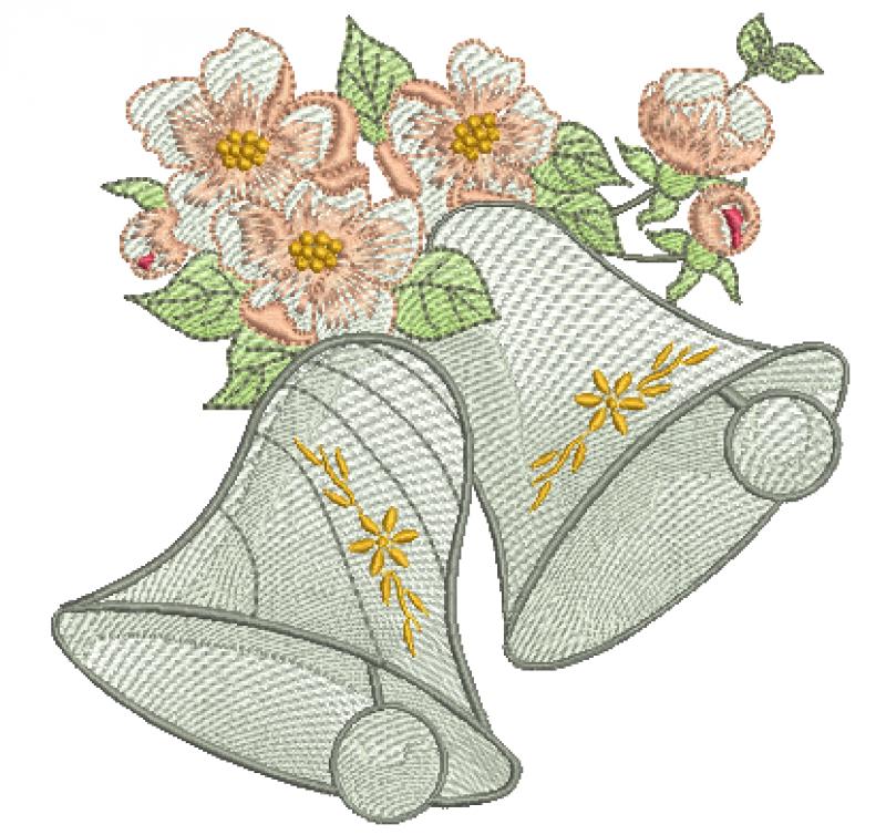 Sinos com Flores de Natal - Rippled