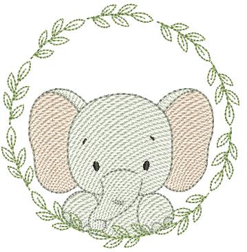 Elefante na Moldura - Rippled
