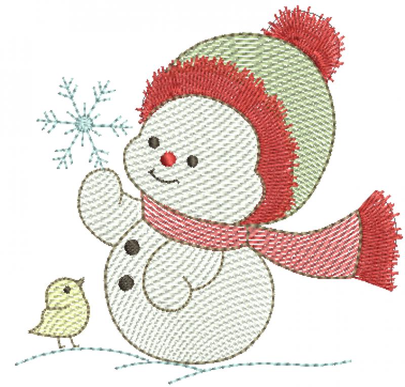 Boneco de Neve Segurando Floco de Gelo - Rippled