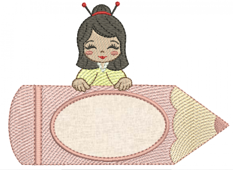 Menina no Lápis Japonesa - Rippled
