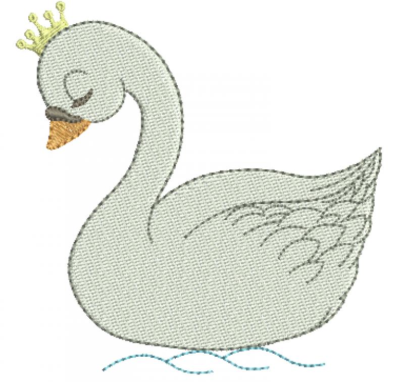Cisne com Coroa - Ponto Cheio