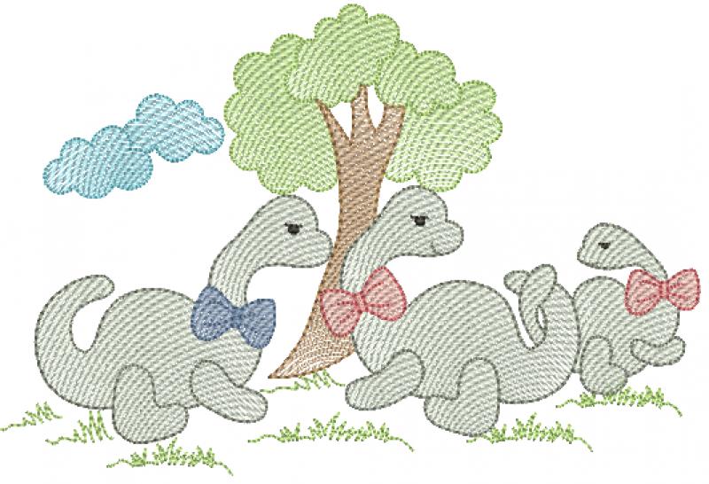 Família de Dinossauros - Rippled