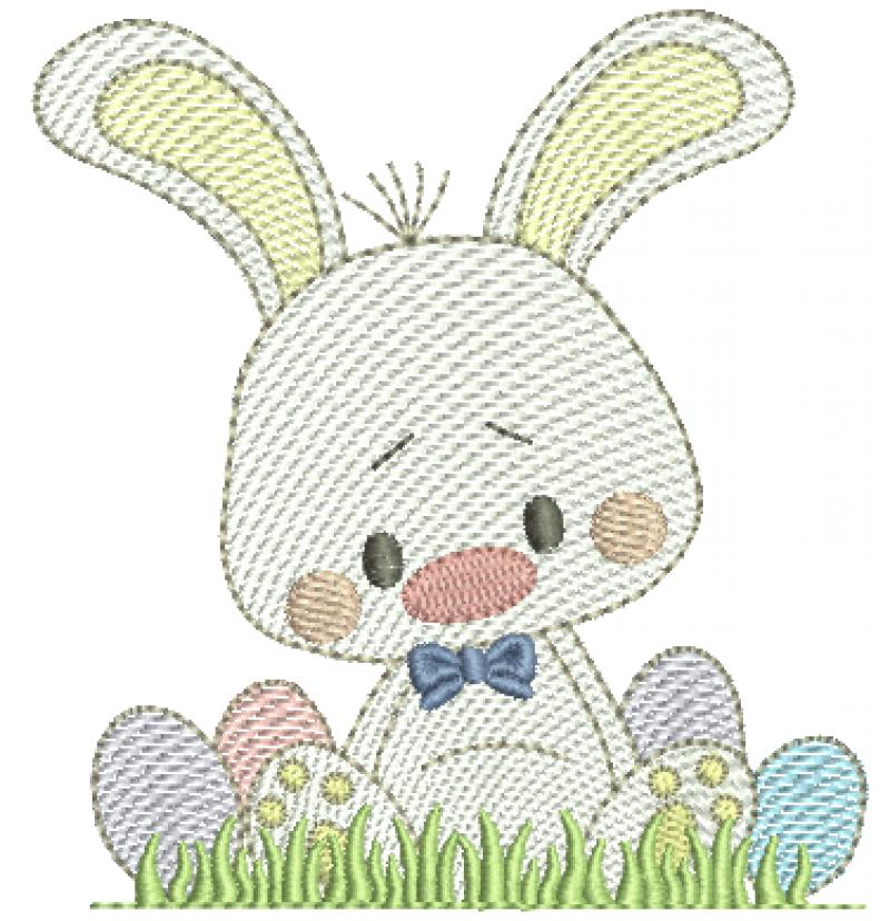 Coelha Sentada com Ovos - Rippled