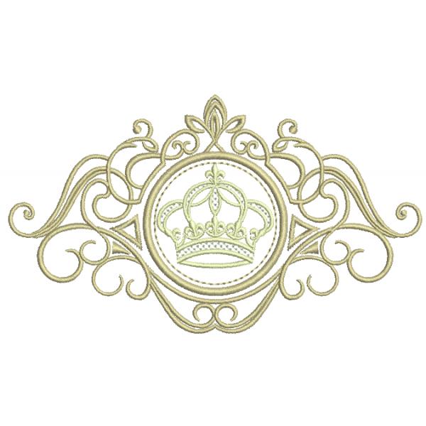 Coroa na Moldura - Ponto Cheio