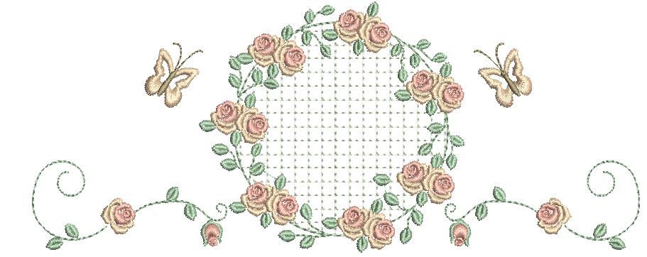 Guirlanda com Raminhos e Rosas