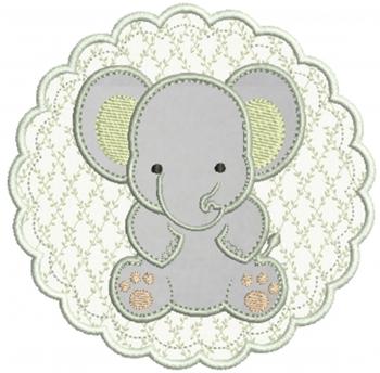 Elefante na Moldura - Aplique