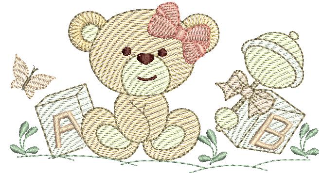 Ursinha com brinquedos - Rippled