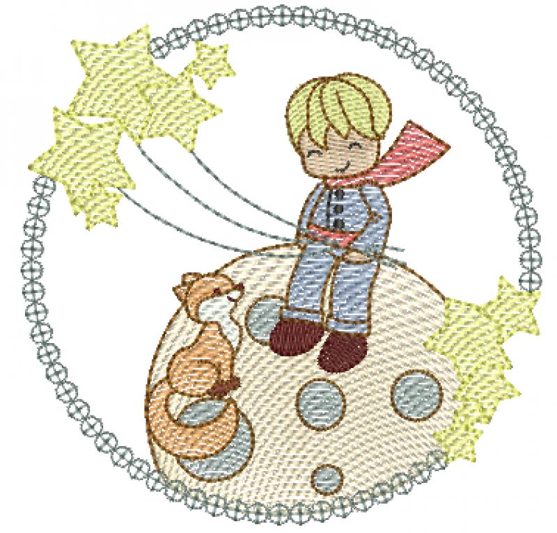 Pequeno Principe com Estrelas - Rippled