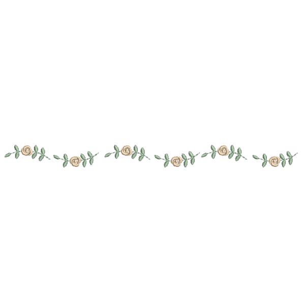 Barrado Caminho de Rosas Pequenas - Ponto Cheio