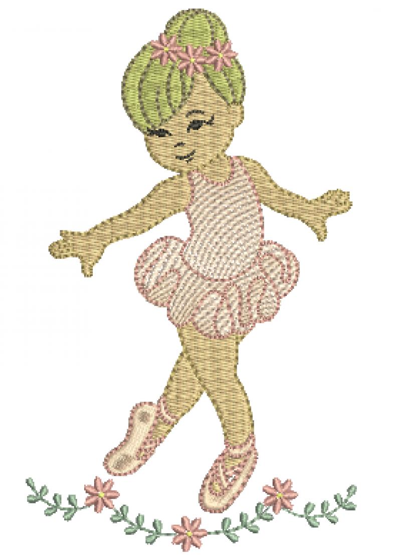 Bailarina com Raminho Delicado - Rippled