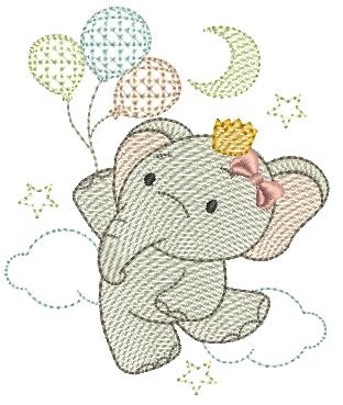 Elefanta e Bexigas - Rippled