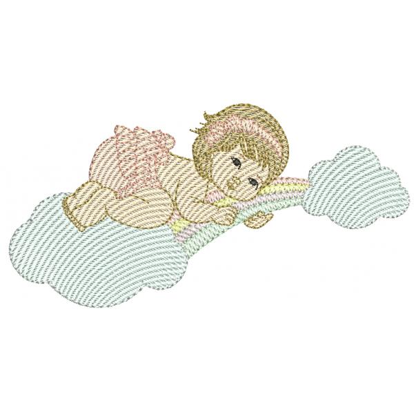 Menina Nuvem e Arco-íris - Pontos Leves