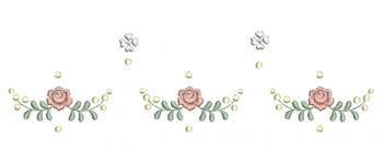 Ramo Delicado com Rosas e Florzinhas - Ponto Cheio