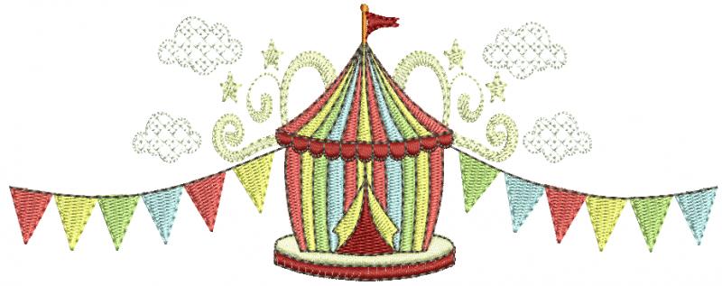 Circo com Bandeiras - Ponto Cheio