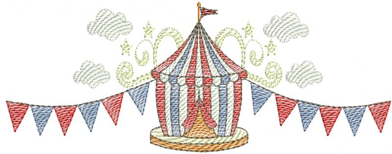 Circo com Balões - Rippled