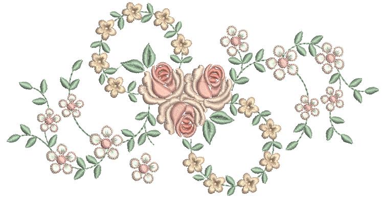 Guirlanda de Rosas e Flores – Ponto Cheio