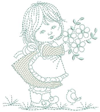 Menina e Flores - Ponto Corrido
