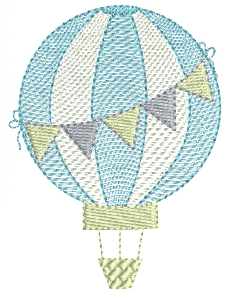 Balão com Bandeirinhas - Rippled
