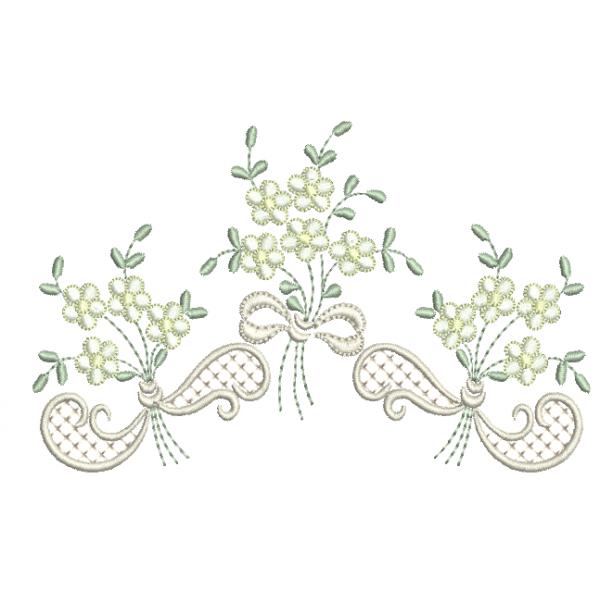 Flores em Buquê - Ponto Cheio