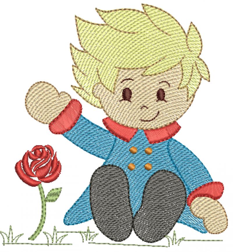 Pequeno Principe Sentado  - Rippled