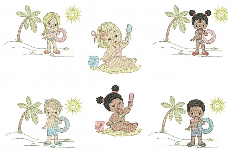 Pacote Crianças na Praia - Rippled