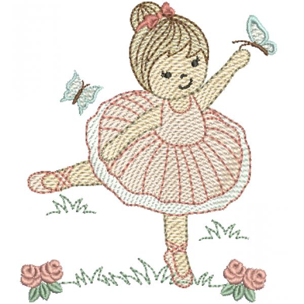 Bailarina em pé - Pontos Leves