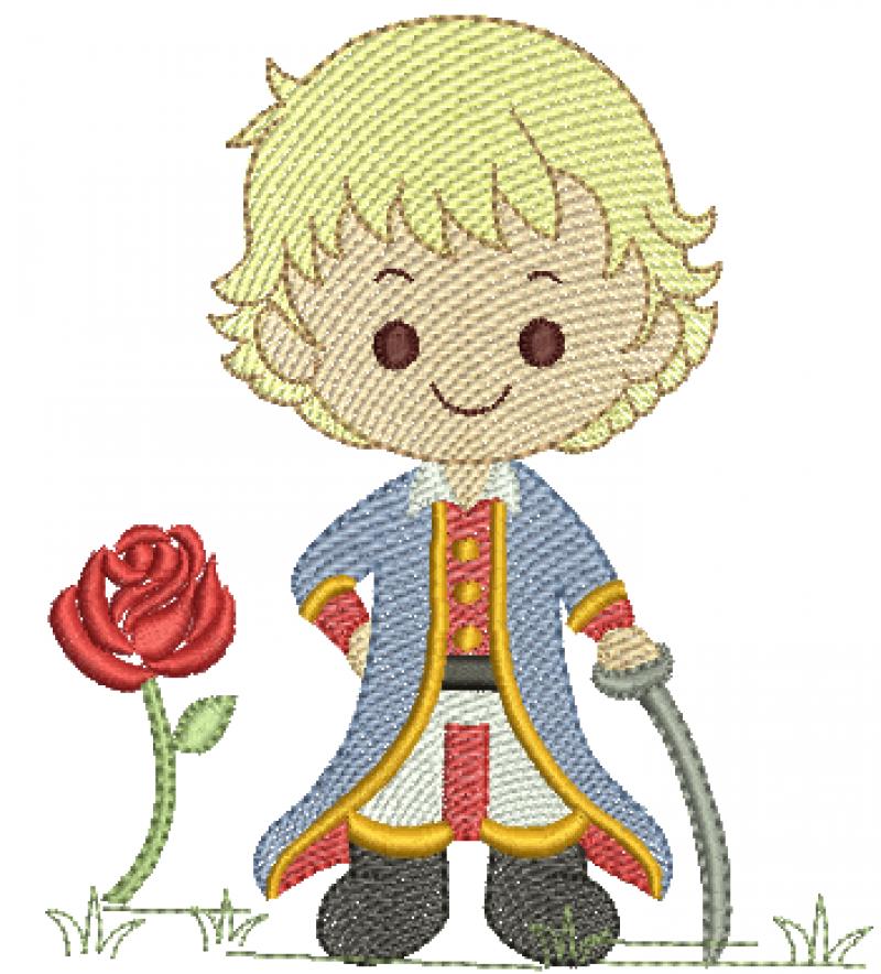 Menino Principe com Rosa e Espada - Rippled