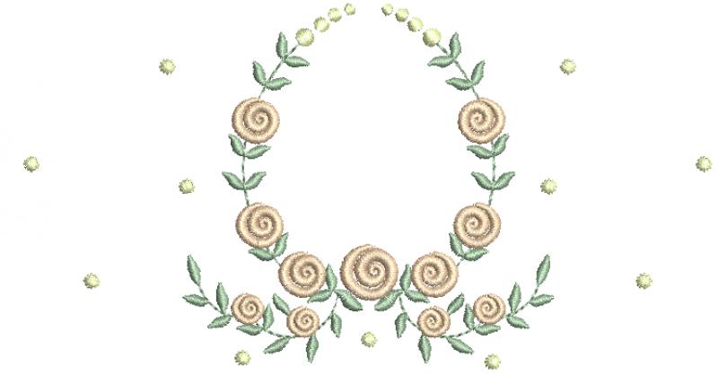 Guirlanda de Rosas Pequenas e Poás