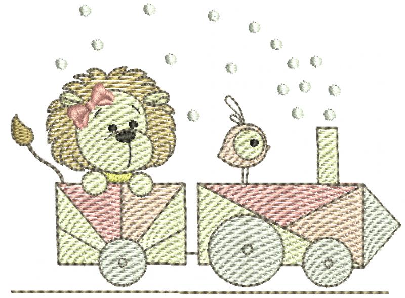 Leoa e Passarinho no Trem - Rippled