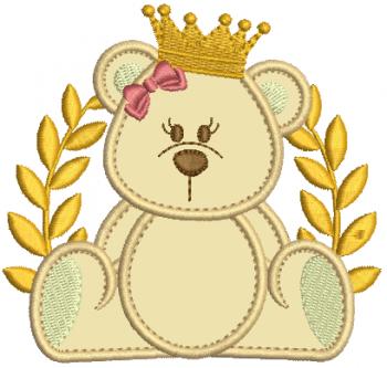 Ursa Real com Coroa de Louro - Aplique