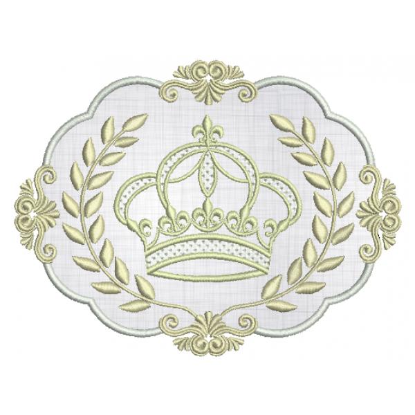 Coroa e Moldura Aplique