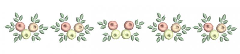 Raminho de Rosas Estilo Rococó - Ponto Cheio