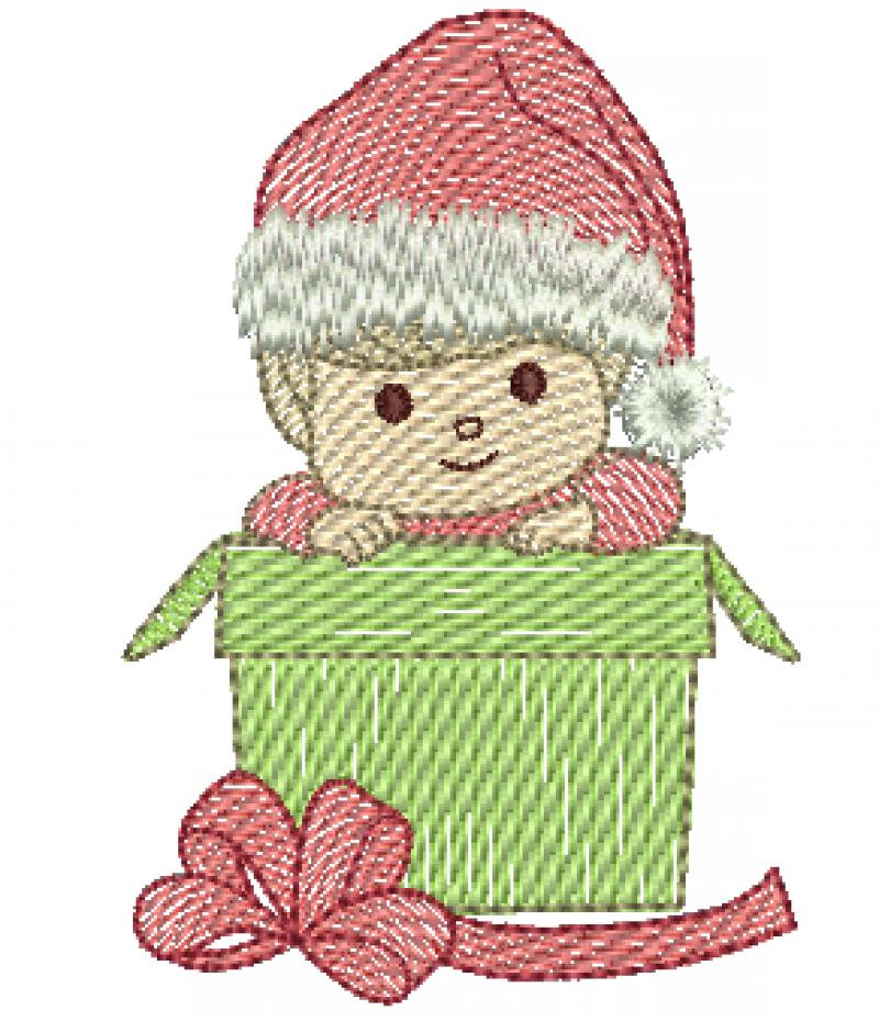 Menino no Presente de Natal - Rippled