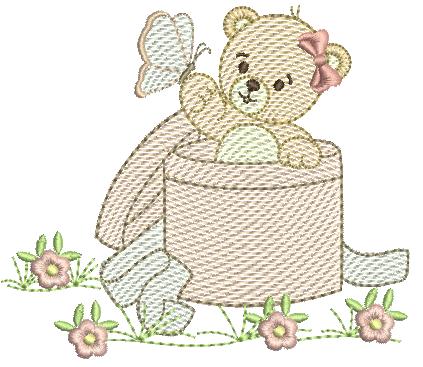 Ursa na Caixa de Presente - Rippled