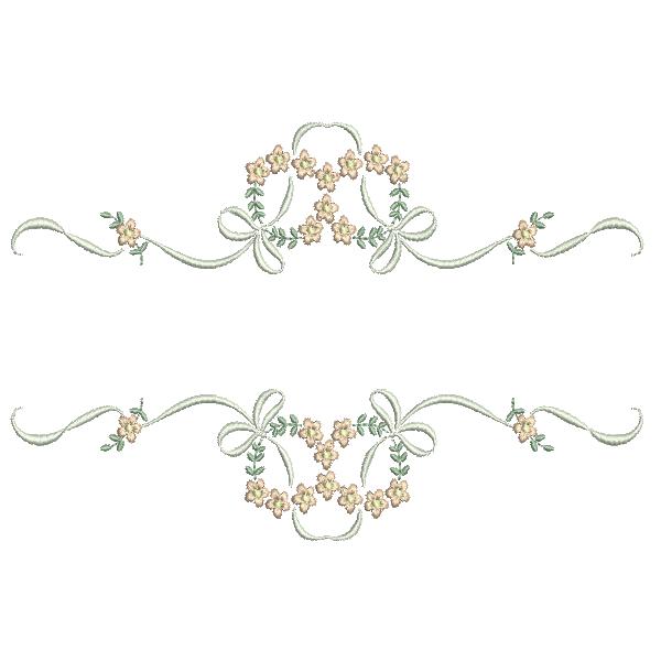 Florzinhas Entremeio e Laços - Ponto Cheio