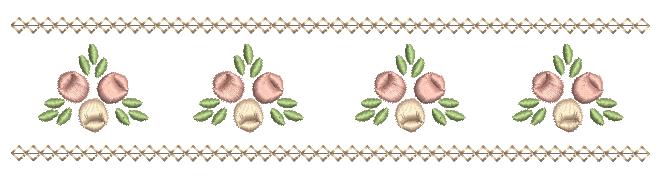 Barradinho de Rosas Rococó - Ponto Cheio