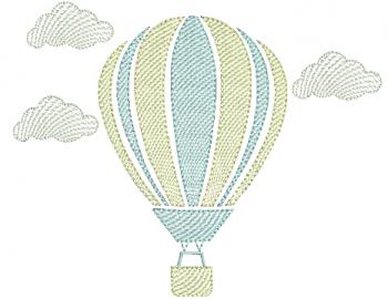 Balão com Nuvens - Rippled