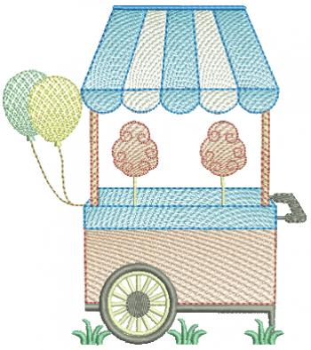 Carrinho de Algodão Doce e Balões - Rippled