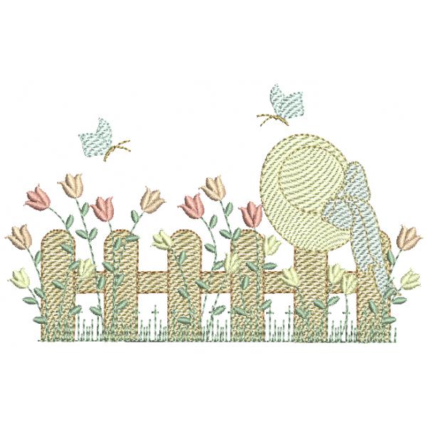 Jardim e Cerca com Chapéu - Pontos Leves