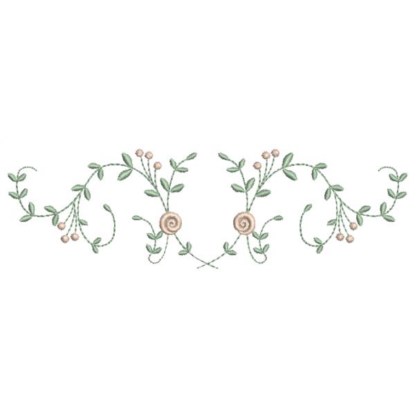 Rosas e Raminhos - Ponto Cheio