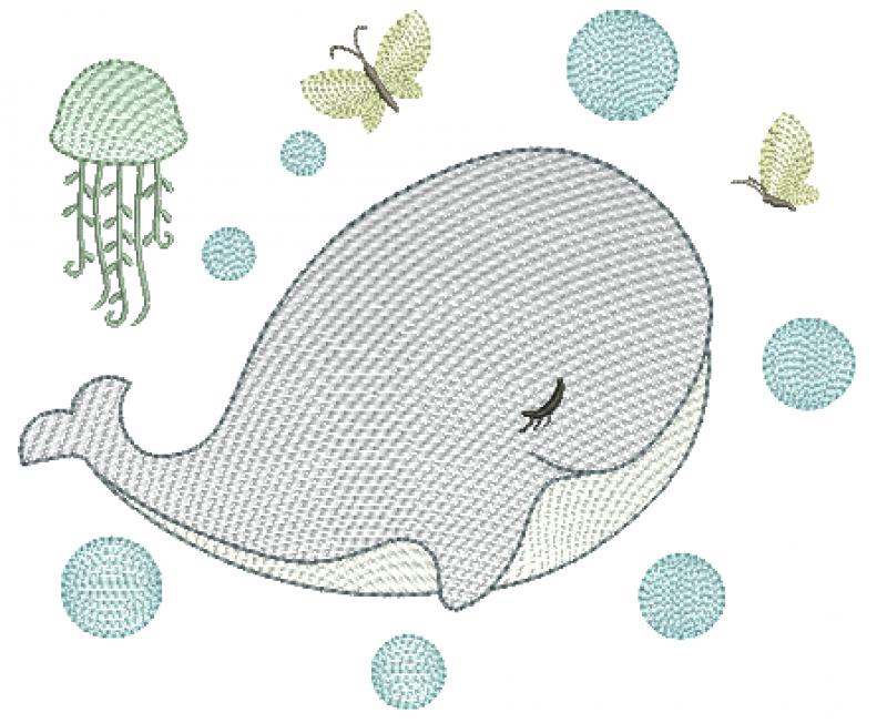 Baleia Menino com Bolhas - Rippled