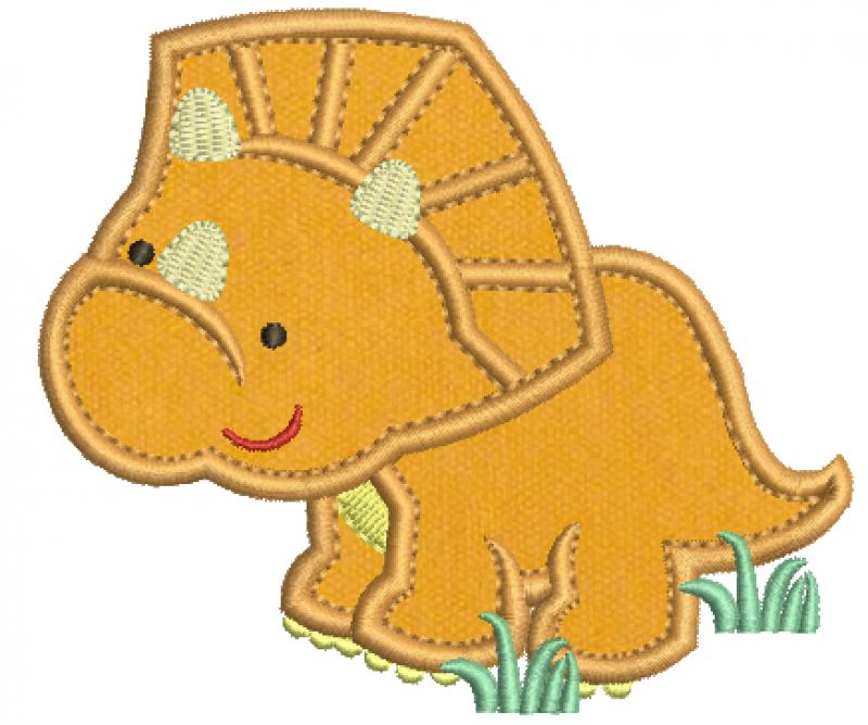 Dinossauro Triceratops Baby - Aplique