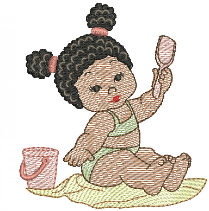 Menina Morena na Praia- Rippled