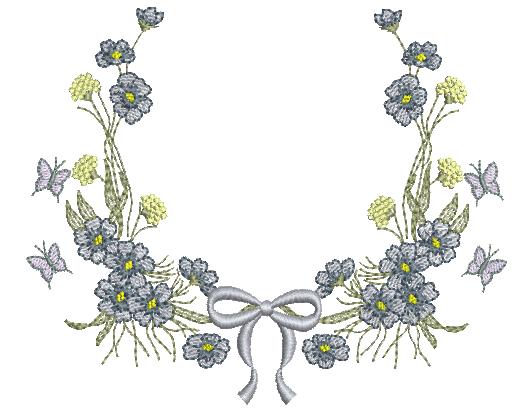 Guirlanda com Flores e Laço - Rippled